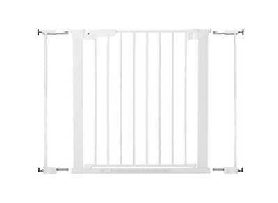 BabyDan Premier True Pressure Fit Safety Gate White, Fits Openings from 73.5 cm