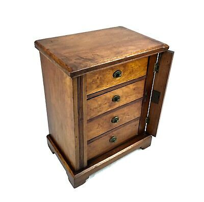 Antique Wooden Wellington Collectors Chest Of Drawers / Cabinet / Box