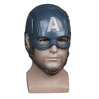 Captain America Halloween Cosplay Party Latex Maske Masken Helm Helmet Mask Prop