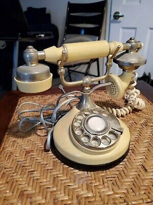Classic Vintage French Style Rotary Dial Telephone ITT Own-A-Phone Plastic Chrom