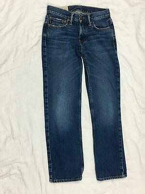 ABERCROMBIE FITCH - BOYS Sz 12 - DISTRESSED CLASSIC STRAIGHT JEANS