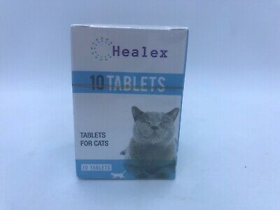 10 Tablets Healex Cat Dewormer Tablets for Cats Factory Sealed Free Shipping F