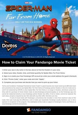 Fandango Promo Code: ONLY for Spider-Man: Far From Home Movie Ticket (up to $14)