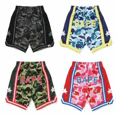 A BATHING APE BAPE KIDS ABC CAMO BASKETBALL SHORTS Pants 4colors Mesh New