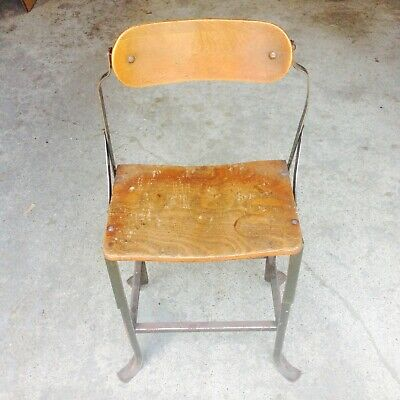 Vintage Industrial Posture Chair by DoMore Chair Co.