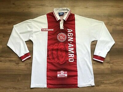 Vintage Ajax Amsterdam Holland 1997/1998 Home Football Shirt Jersey Maglia Umbro