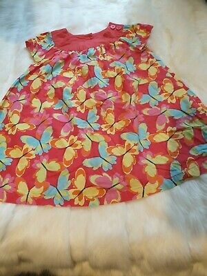 girls 18-24 months party beach dress tunic summer butterfly design clothes next