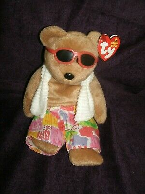 Midwest Airlines Exclusive Ty CHOCOLATE CHIP the Bear Beanie Baby 2006 MWMT