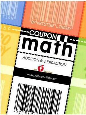 PCI Education COUPON MATH ADDITION SUBTRACTION + COUPONS 3-Ring Binder LIKE NEW