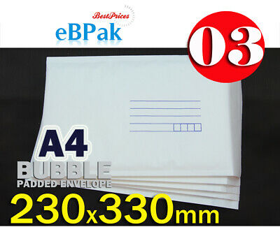 Bubble Mailer #03 230x330mm 03 A4 size Kraft Cushioned Envelope Padded Bag