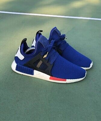 the latest a5dc7 7102e ADIDAS NMD XR1 Mystery Blue Primeknit Boost PK Red White Men Sz 9.5 Nomad  AC7185