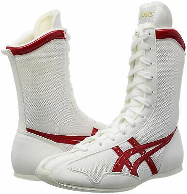 asics Boxing Ring shoes Long type White White Silver made in JAPAN Authentic BTO