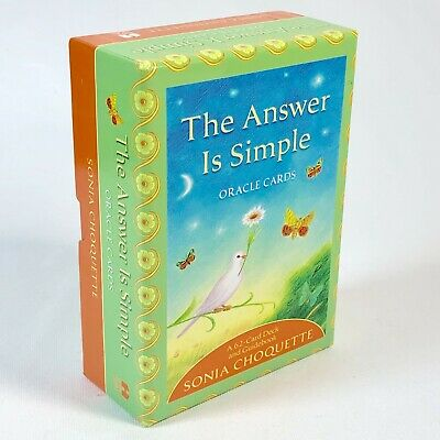 The Answer is Simple Oracle Card Deck Sonia Choquette 62 Card and Guidebook