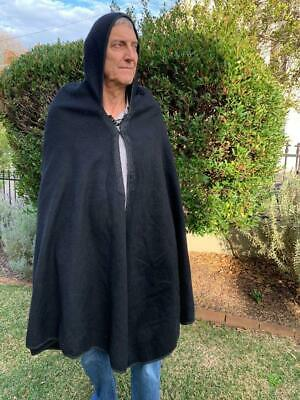 Burnouse  Cape Morocco vintage black wool perfect condition Free shipping