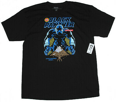 Lifted Research Group L-R-G X Marvel Black Panther Vibranium! T-Shirt Size L