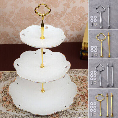 Display Plate stand 2/3 layers Cake Handle Fitting Rod Zinc alloy Fruit Cupcakes