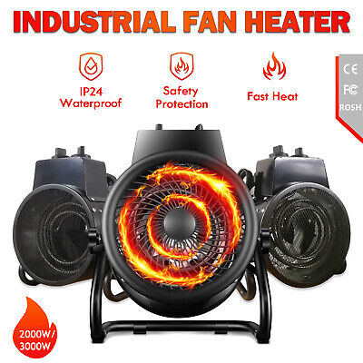 Electric Portable Industrial Fan Heater 2000/3000W Fast Heating Warm Air Blower
