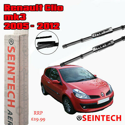 "Renault Clio Mk3 2005-2012 Specific Fit Front Windscreen Wiper Blades 24""16"""