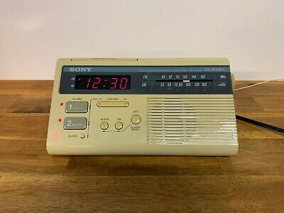 Sony ICF-C220W Dual Alarm FM/AM Digital Clock Radio Digimatic Dream Machine