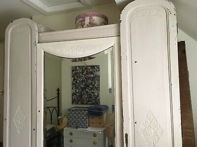Triple - French - Wardrobe/ Armoire - Vintage Believed 1920s- Ideal Shabby Chic