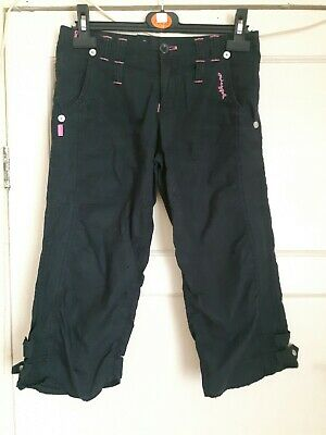 Girls Age 12 Pineapple Black Cargo Trousers