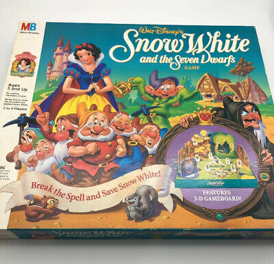 Vintage Snow White and the Seven Dwarfs Board Game Disney Milton Bradley 1992