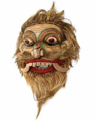 Vintage Traditional mask collectible Carved wooden mask > sab0045