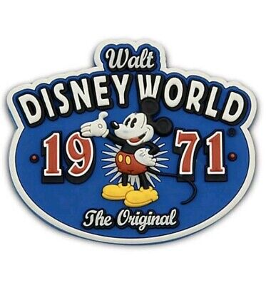 DISNEY PARKS  WALT DISNEY WORLD MAGNET 1971  THE ORIGINAL- Mickey Mouse. New.