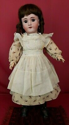 """Antique German Bisque Head Doll Heinrich Handwerck Fully Jointed Body 24"""" Beauty"""
