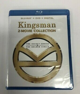 Kingsman 2-Movie Collection (Blu Ray + DVD, 2018) SEALED ~SHIPS FAST~ 🥑