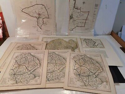 31 Lincolnshire Maps. Job Lot. 1700s. Hand Coloured