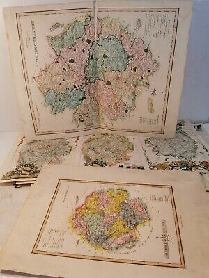 49 Herefordshire Maps. Hand Coloured. Job Lot. 1700s