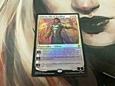 Ally of Zendikar 1x Gideon ChannelFireball Foil MTG Battle for Zendikar NM