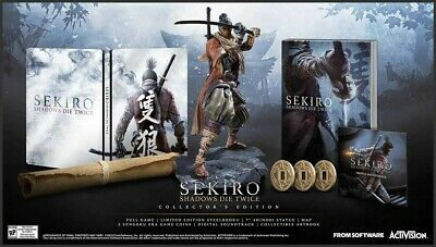 SEKIRO Shadows Die Twice XBOX ONE Collector's Edition + Katana Letter Opener NEW
