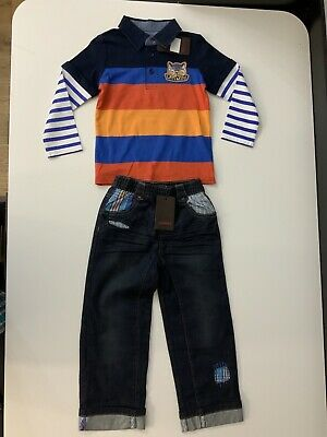 Catimini NEW outfit Set Top Size 3 Years & Jeans Age 4 Years Bnwts Rrp £86
