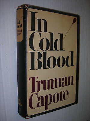 IN COLD BLOOD 1st Edition/First Printing STATED Truman Capote 1965 HC/DJ VG Cond