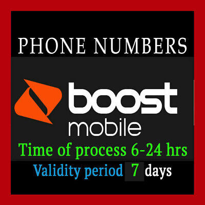 Boost Prepaid Numbers For Port! Any area code! - BOOST Carrier numbers to port