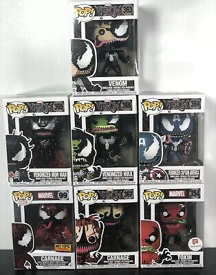 Funko Pop Marvel Venom Toxin Carnage Venomized Hulk Iron Man Captain America