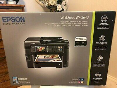 NEW EPSON WORKFORCE WF-3640 Wireless Color All-in-One Inkjet