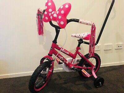 Huffy 30cm Disney Minnie Mouse Girls BMX Bike Training Wheels Chain Guard