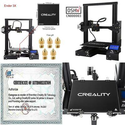 Comgrow Creality 3D Ender 3X Printer with Tempered Glass Plate Ender-3X