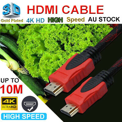 HDMI Cable High Speed 3D Ultra HD 4K 1080p with Ethernet HEC ARC Braided Cable