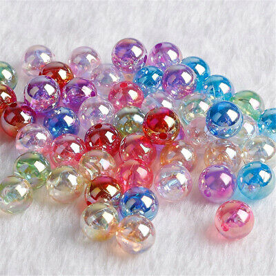 Bracelet With Hole Acrylic Bead Loose Spacer Beads  Jewelry Making For 50pcs