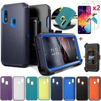 For Samsung Galaxy A10e/A20/A30/A50 Rugged Armor Case Dual Layer Defender Cover