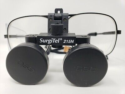 Surgitel 215N Dental Surgical Jeweler 2.5 x Magnifying Loupes Scratch Free