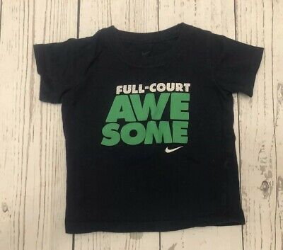 Nike Full Court Awesome Tshirt Size 18 Months Navy Blue & Green W/ FREE SHIPPING