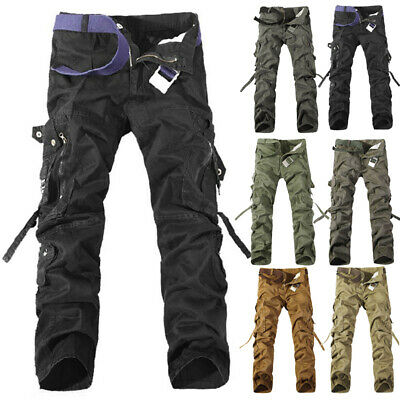 Army Men's casual Cargo Camo Combat Work pants casual Pants Military Trousers