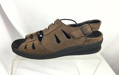 BIRKENSTOCK TATAMI BROWN Nubuck Leather Lace Up Sandals