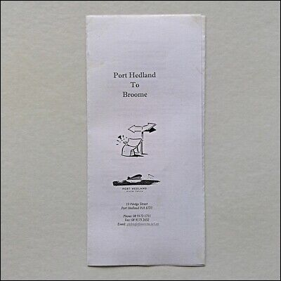 Port Hedland To Broome Guide Info Brochure Map (Mp1)