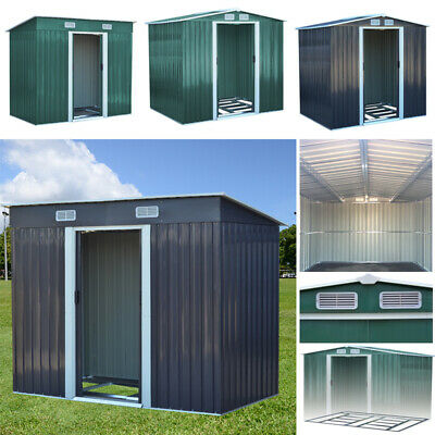 Garden Outdoor Metal Shed Storage Building Tool Box Container Garden Sheds Roof